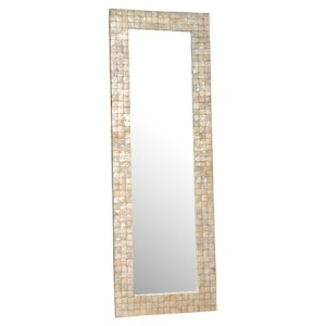 CHESAPEAKE CAPIZ FLOOR MIRROR. Image: jossandmain.com