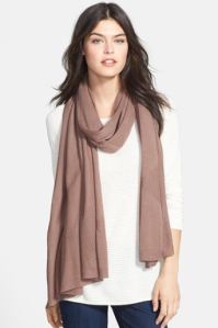 A cozy fall scarf in a perfect, match-everything color!